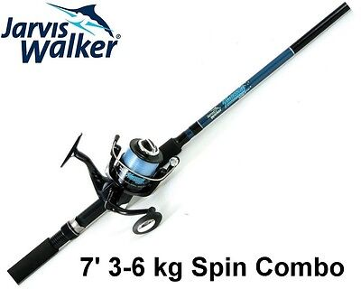 Jarvis Walker 7ft National 3-6kg 2pce Fishing Rod and Reel Spin Combo with Line
