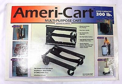 Mover Dolly 300 LB Capacity Heavy Duty Furniture 12x16in Hand Truck Push Cart