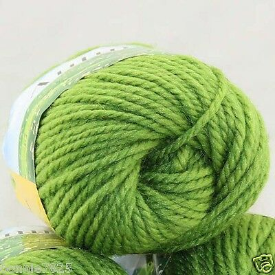 Sale New 1 Ball x 50gr Quick Hand Knitting Yarn Soft Worsted Wool Silk Velvet 20