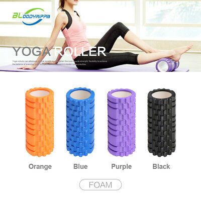 New Foam Roller Grid EVA 33x14cm Physio Pilates Yoga Gym Exercise Trigger Point