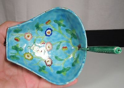Antique Chinese Enamel Lotus Cup Brush Washer