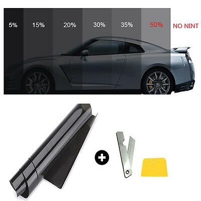 Window Tint Tinting Film 50% VLT Roll Black Pro for Car Home Glass 50cm*3m New