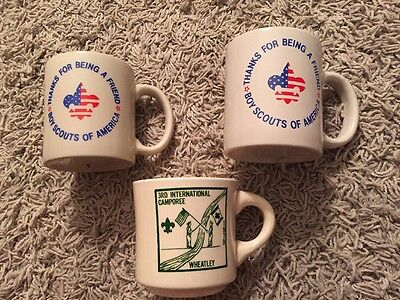 Lot Of 3 Vintage Boy Scout BSA Coffee Mug