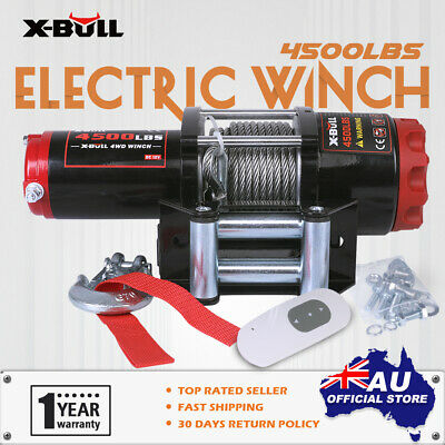 X-BULL Electric Winch 4500LBS Wireless Steel Cable Boat ATV 4WD Trailer