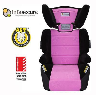 New InfaSecure Vario Caprice Booster Car Seat 4-8 years Kid Child Infant Pink