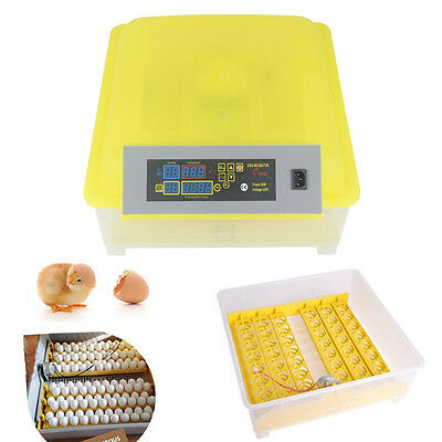 48Eggs Incubator Hatcher Auto Egg Turning Digital Poultry Turner Temperature Kit