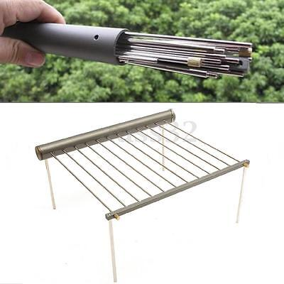 Portable Outdoor Camping Beach Folding BBQ Barbecue Grill Support Stand Stove