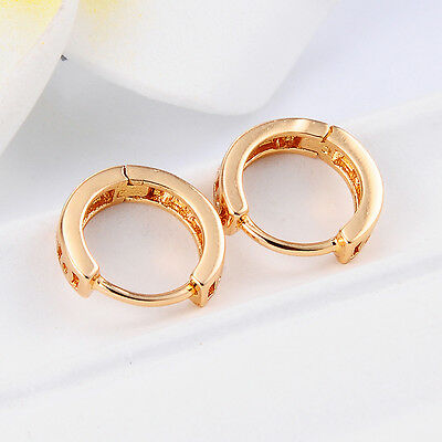 18k Gold Plated Girls Hoop Earrings Safety Earings Little Childrens