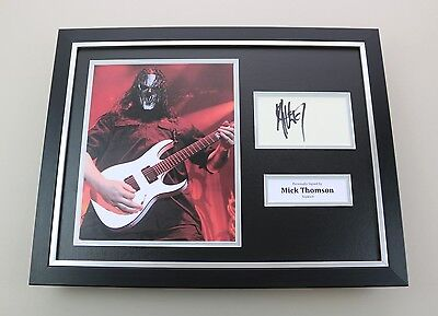 Mick Thomson Signed Photo Framed 16x12 Slipknot Memorabilia Autograph Display