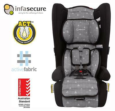 Infasecure Comfi Treo Covertible Booster Baby Car Seat Kid Infant 6mth - 4 years