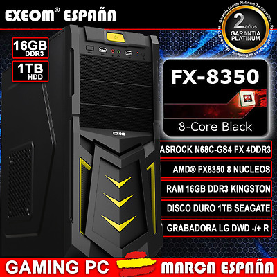 Ordenador Pc Gaming Amd Quad Core A10 7700K 16Gb Ram 1Tb Hdd - Marca España