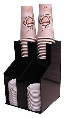 """Wide Soda Cup office lid dispenser Holder Rack Condiment Caddy Organize caddy 5"""""""