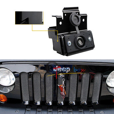 Hood Lock Kit Assembly Anti-Theft Security Lock Set For 07-16 Jeep Wrangler JK