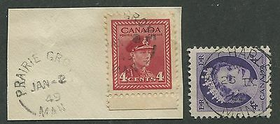 MANITOBA TOWN CANCELS x2 (3)