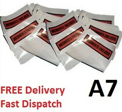 10  x A7 Printed Document Enclosed Envelope Wallets Pouches