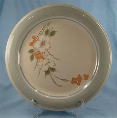 white florals Orange Made in Japan. 1970s Vintage Impressions by Daniele Riverside stoneware bread-and-butter dessert side plate