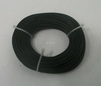22 AWG tinned copper stranded hook up wire, 100 feet Black UL1007, project wire