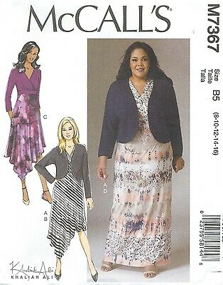 MCCALL\'S 7367 MISSES\' / Women\'s Shrug and Dresses Sewing Pattern ...