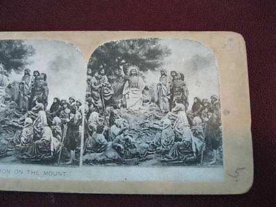 Stereoview Christian Christianity Bible Scene The Sermon On The Mount (O) AS IS