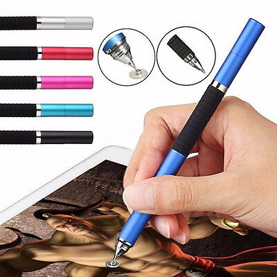 Practical 2in1 Capacitive Touch Screen Stylus Pen For iPhone iPad Samsung Tablet