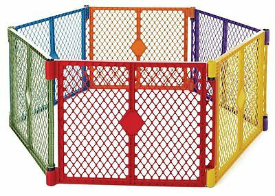 North States Baby Gate Superyard PLAY YARD  Portable PLAYARD Colorplay 6 Panel