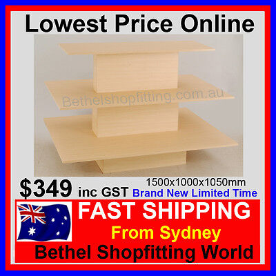 3 Tier DisplayTable- Perfect For Any Retail Store 1500x1050x1000mm Brand New!