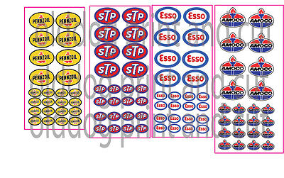esso STP AMPOL PENZOIL SET OF 4 stickers trains hobbies cars ect