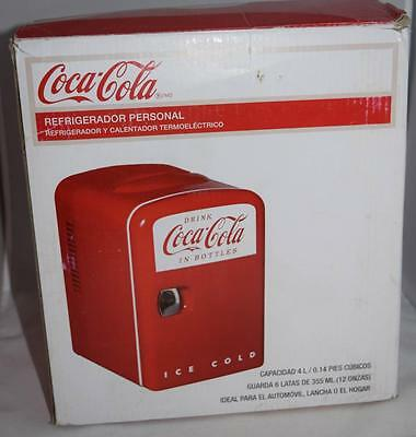 Coca Cola 0.14 cubic foot Retro  Personal Fridge in Red Cooler Warmer Car Boat