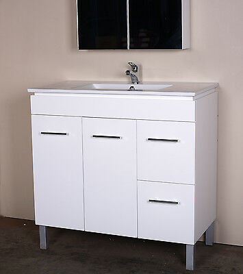 """900mm Freestanding or Wall Hung Bathroom Vanity Unit with Ceramic Top-""""BG"""""""