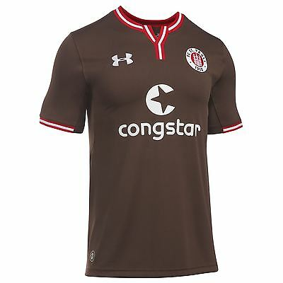 Under Armour Mens Gents Football Soccer St Pauli Home Shirt 2016-17 - Brown