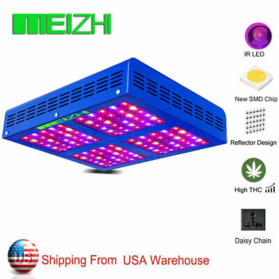 MEIZHI Reflector 600W LED Grow Light Panel Full Spectrum Hydroponics Veg Bloom