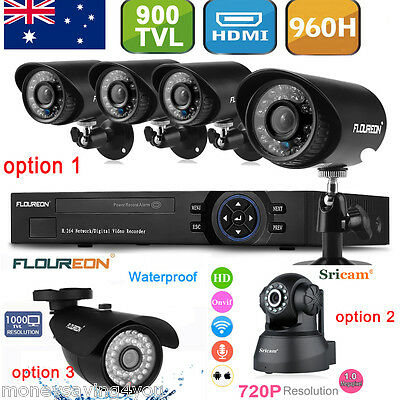8CH DVR Outdoor Camera 720P Network IP Camera Home Security CCTV System