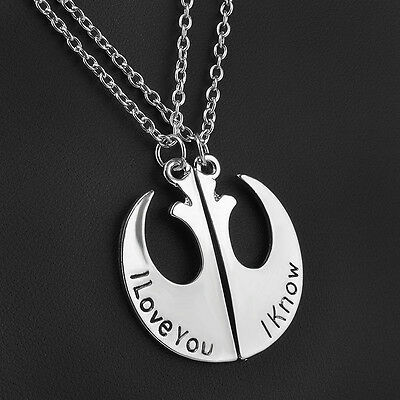 New Fashion Star Wars I Love You I Know Couple Necklace Two Part Necklaces Gifts