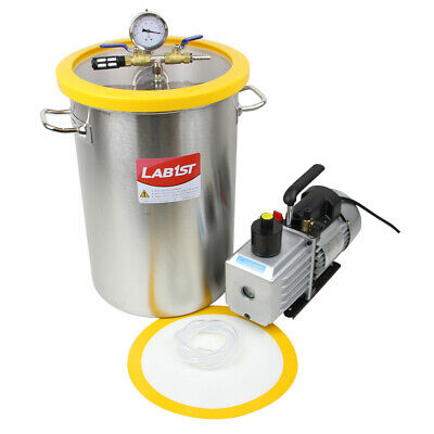 8.4 Gallon Stainless Steel Degassing Vacuum Chamber and 3CFM Vacuum Pump Kit