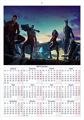 Guardians of the Galaxy - 2017 A4 CALENDAR **BUY ANY 1 AND GET 1 FREE OFFER**
