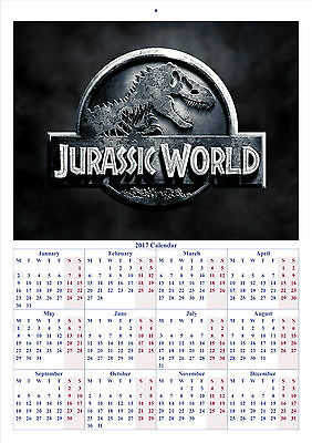 Jurassic World - 2017 A4 CALENDAR **BUY ANY 1 AND GET 1 FREE OFFER**