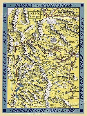 BIG Hysterical Map of Olympic Peninsula /& Puget Sound circa 1934 Seattle 24x24