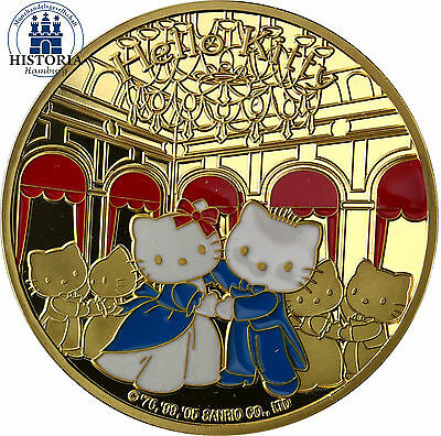 Frankreich 50 Euro Gold 2005 Goldmünze Hello Kitty - Kitty in Versailles