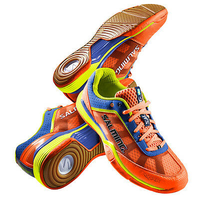 Salming Men's Viper 3.0 Indoor Court Shoes Shocking Orange - FREE UK P&P