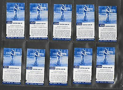JOHN COTTON  GOLF STROKES set 50 Cigarette Cards 1937 C/D