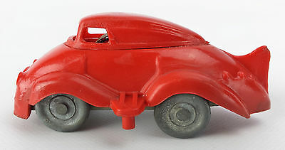 Vintage Antique toy car clockwork red plastic Made in Gt Britain