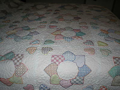"""Machine quilting service queen size up to 90"""" wide"""