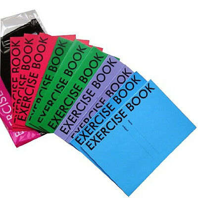A5 Ruled Exercise Books Pack Of 10, 40 Pages Various Colour Covers School Books