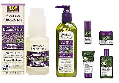 Avalon Organics Brillant Balance Lavender Hydrating Facial Skin Care Products