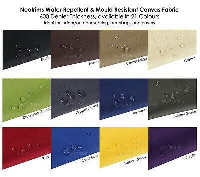 Waterproof Canvas Fabric Material, 800 Denier Thick Heavy Duty, Outdoor, Neotrim