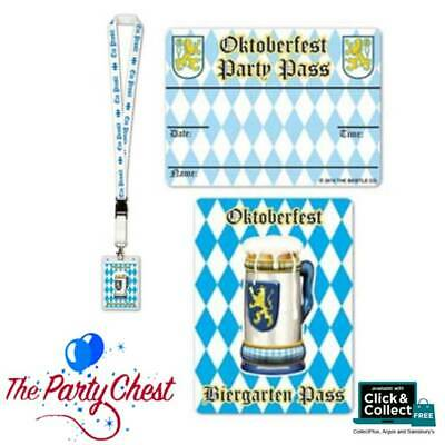 OKTOBERFEST PARTY PASS LANYARD BADGE German Beer Festival Party Accessory 60458
