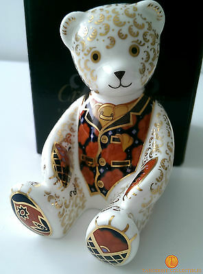 Royal Crown Derby DEBONAIR BEAR Guild Exclusive Paperweight Gold Stopper Boxed