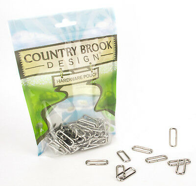 10 - Country Brook Design® 3/4 Inch Rectangle Metal Keeper