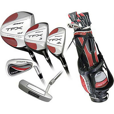NEW Affinity TFX Premium 17 Piece Complete Golf Set w/ Driver, Woods, Irons, Bag
