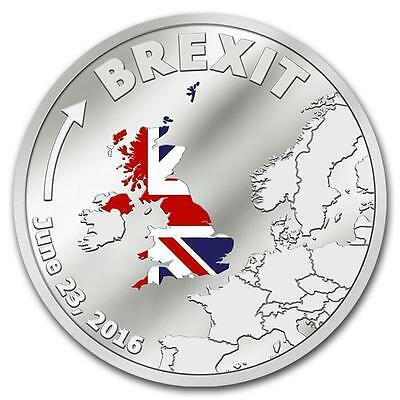 Cook Islands 2016 $1 Brexit 3g Silver 999 Proof Coin Smart Minting Limited!!!